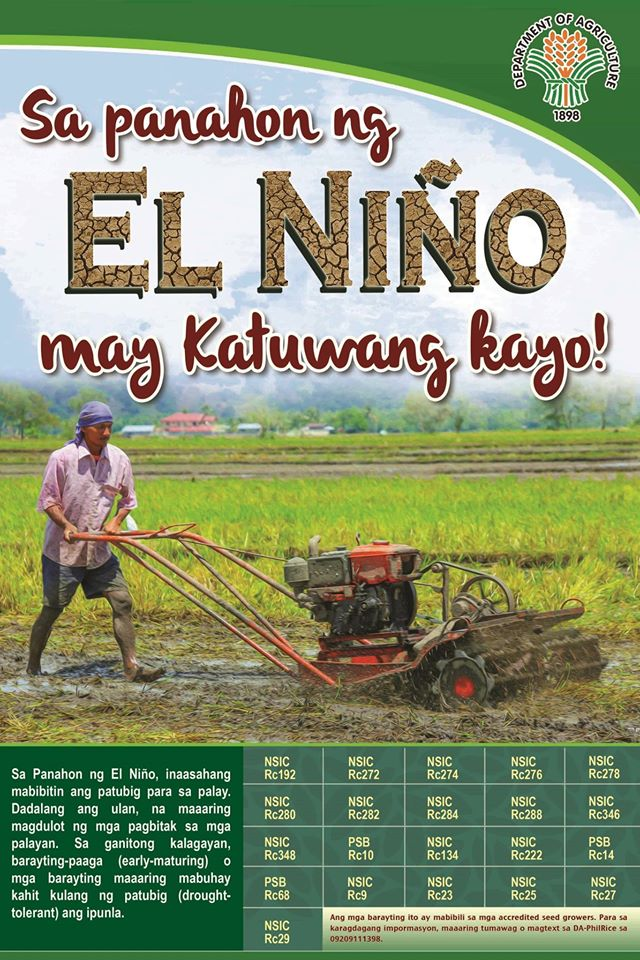 DA intensifies efforts to combat El Niño